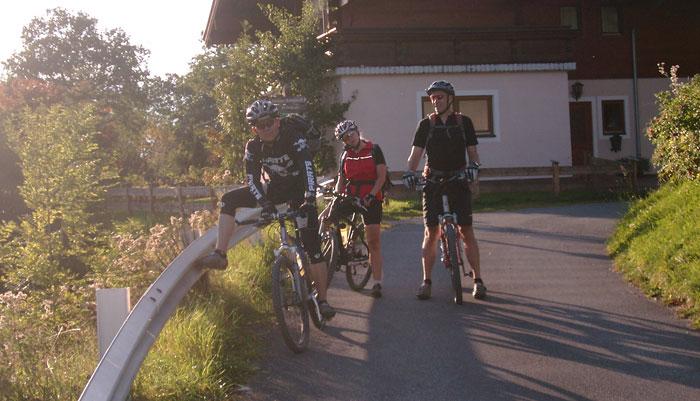 Ende einer Mountainbike-Tour | Hundsteintour 2016