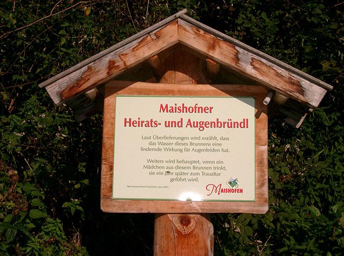 Maishofener Augen- und Heiratsbründl | Hundsteintour 2016