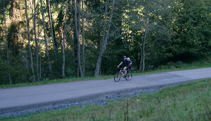 Hundstein Tour 2016: asphaltierte Bergstrasse nach Maria Alm