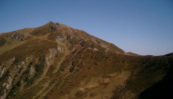 Der Singletrail am Beginn der Hundstein-Abfahrt nach Thumersbac