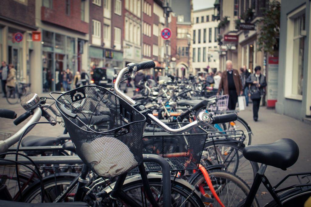 Münster lässt sich am besten mit dem Fahrrad erkunden.