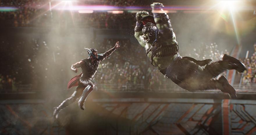 Thor kämpft gegen Hulk