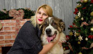 Weihnachten mit tierischer Familie