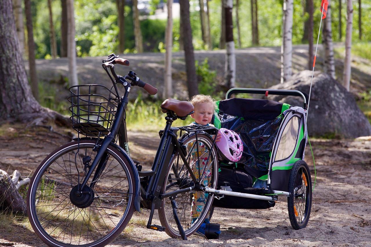 Fahrradanhänger oder Kindersitz