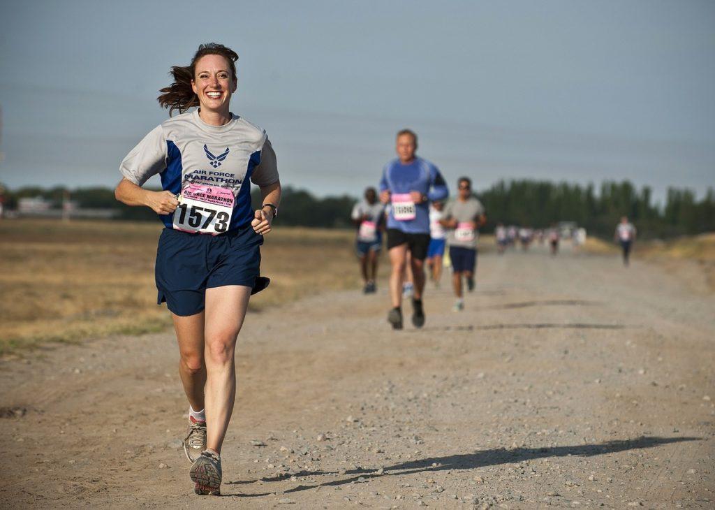 Läuferin sprintet