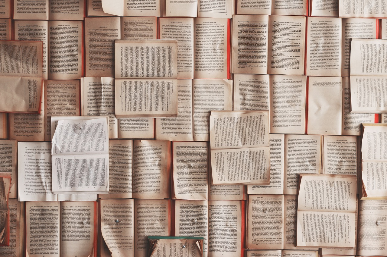 aufgeschlagene Bücher